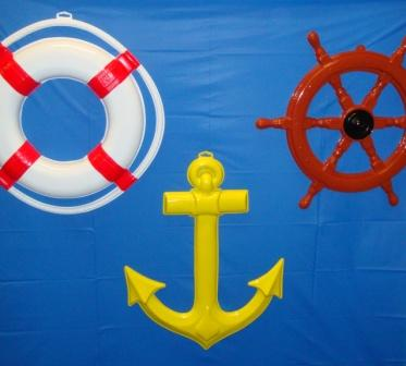 3D Plastic Nautical Decorations