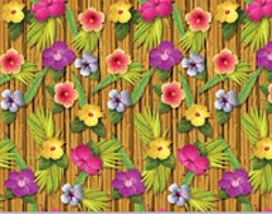 Luau Backdrop - you'll think you smell the fragrance of tropical flowers!