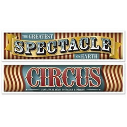 Give your circus or carnival themed party a vintage appearance with these Vintage Circus Banners! Hang them on the wall or across a stage and they'll set the tone for a night of entertainment.