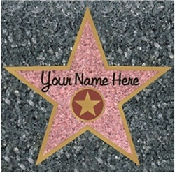 Star Peel N Place Decal - If you are hosting any kind of movie star theme or awards theme party, prom theme, or event you need to pick up some of these.