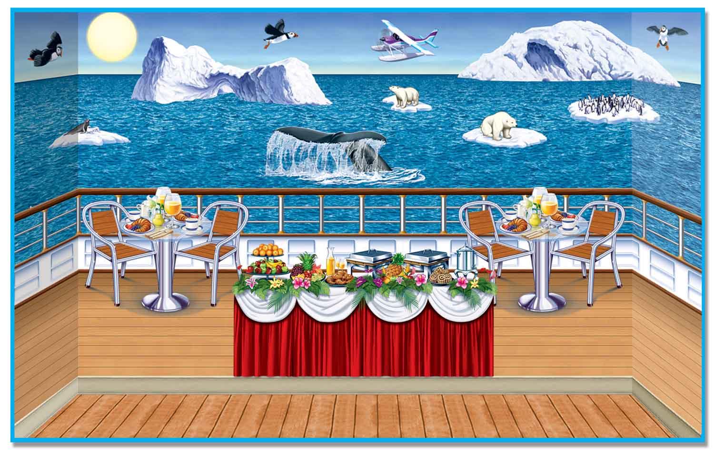 Arctic Cruise Ship InstaTheme Backdrops Props PartyCheap - Cruise ship party