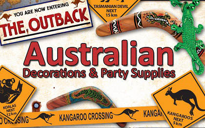 Australia decorations theme party for Australian decoration ideas