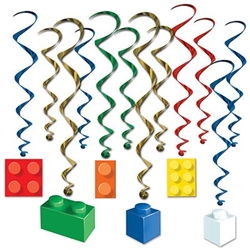 Building Block Whirls - add color and excitement to a classroom or party
