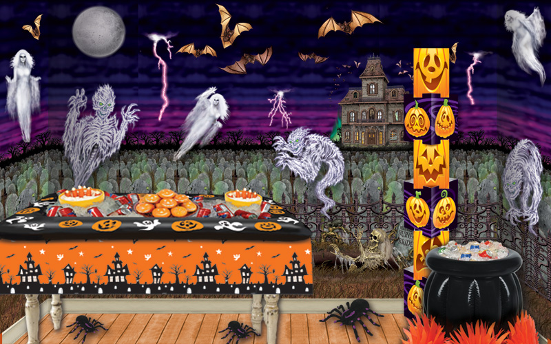 cheap halloween backdrops and room decorations - Cheap Halloween Decor Ideas