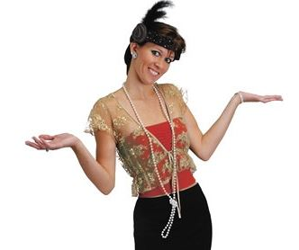 Flapper Headband and Beads Set - be the 'It' girl at your next party!