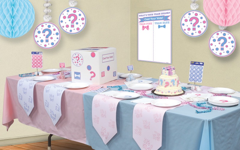 gender reveal party decorations