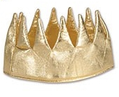 Your guest will be asking for your royal blessing when you wear this Fabric Gold Crown!