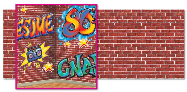 1980's era style Graffiti Backdrop Backgrounds & Props