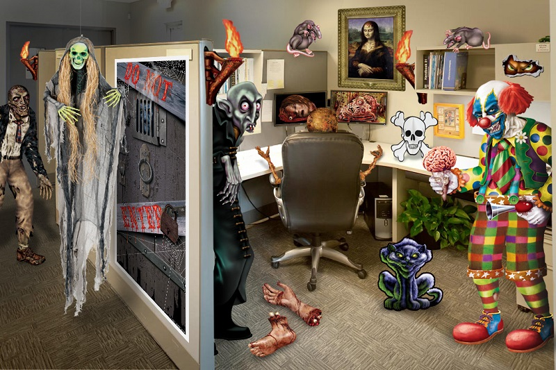 Original Halloween Door Decorating Ideas Office  Nice Decoration