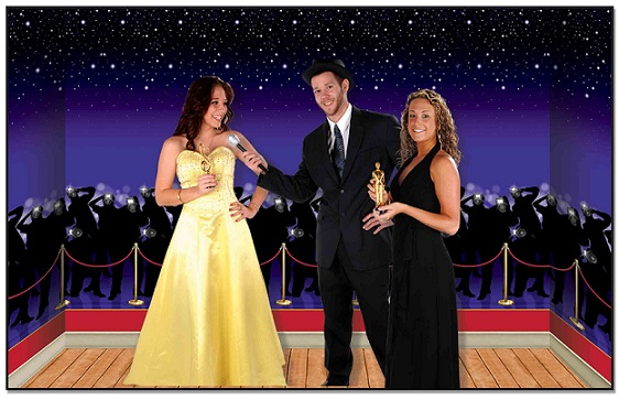 Hollywood Awards Night Backdrops & Props