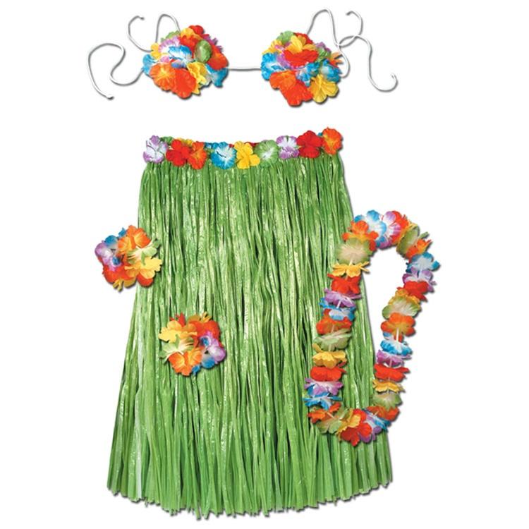 Luau Hula Grass Skirts & Leis