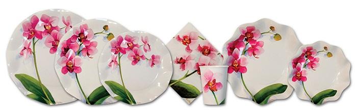 Orchid Print Tableware