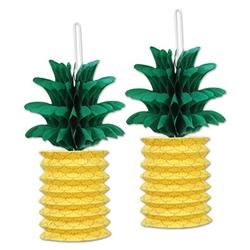 pineapple paper lanterns - Luau Decorations
