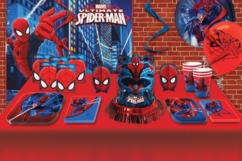 Superhero birthday party partycheap for Spiderman decorations