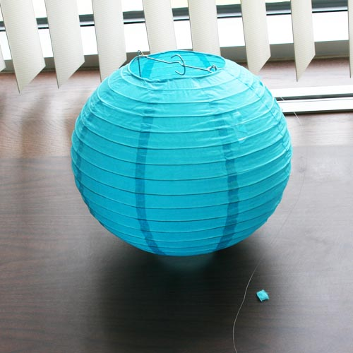 How to make shark paper lanterns partycheap for How to make paper lamp step by step
