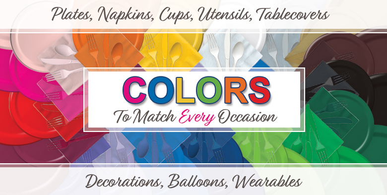 Shop for tableware by color
