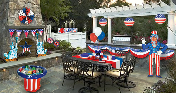 July 4th Party Ideas from PartyCheap.com, your Patriotic decoration site