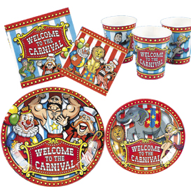 Big Top Circus Tableware