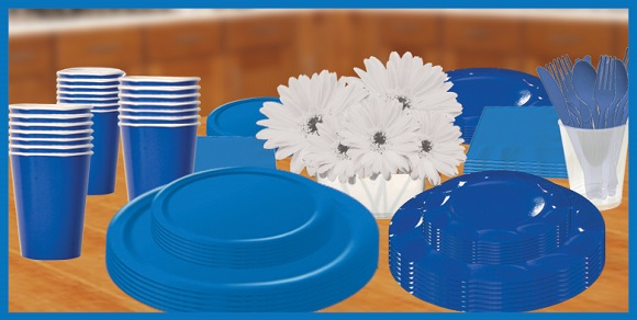 Blue Solid Color Tableware