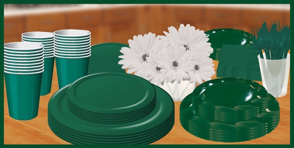 Dark Green Tableware