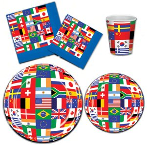 sc 1 st  Party Cheap & International Flag Tableware Cups Plates \u0026 Napkins - PartyCheap