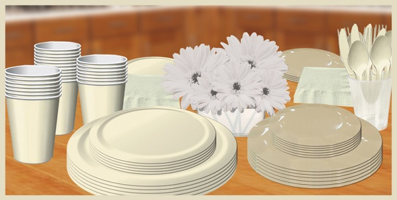 Ivory & Cream tableware