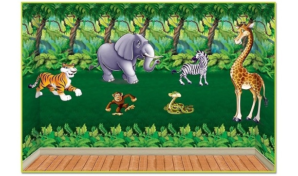 Make Party Backdrops Make Your Party Room a Jungle