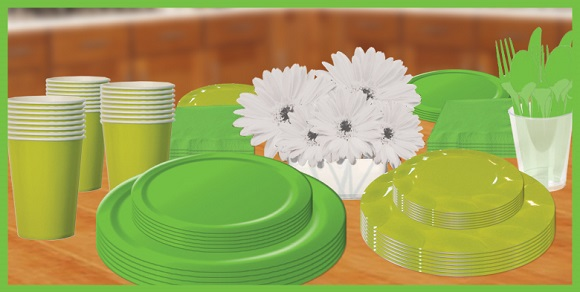 Kiwi Lime Green Tableware