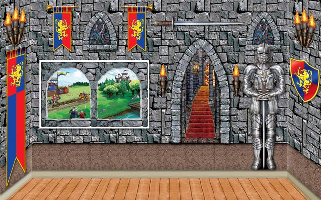 Medieval scene setter castle backdrops props partycheap - Cheap medieval home decor ...