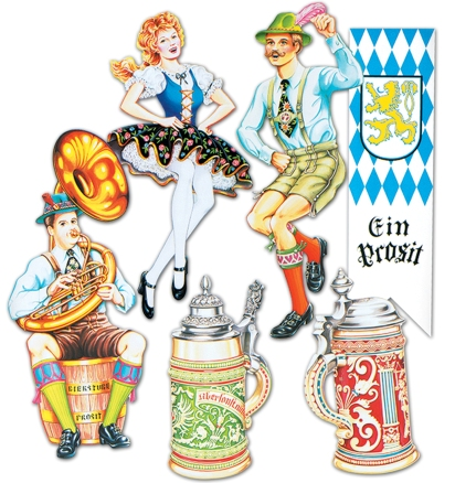 Oktoberfest cut out decorations are an important piece of your Oktoberfest party theme.