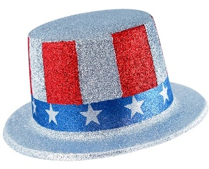 Patriotic Glittered Top Hat