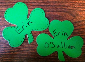 Shamrock Name Tags