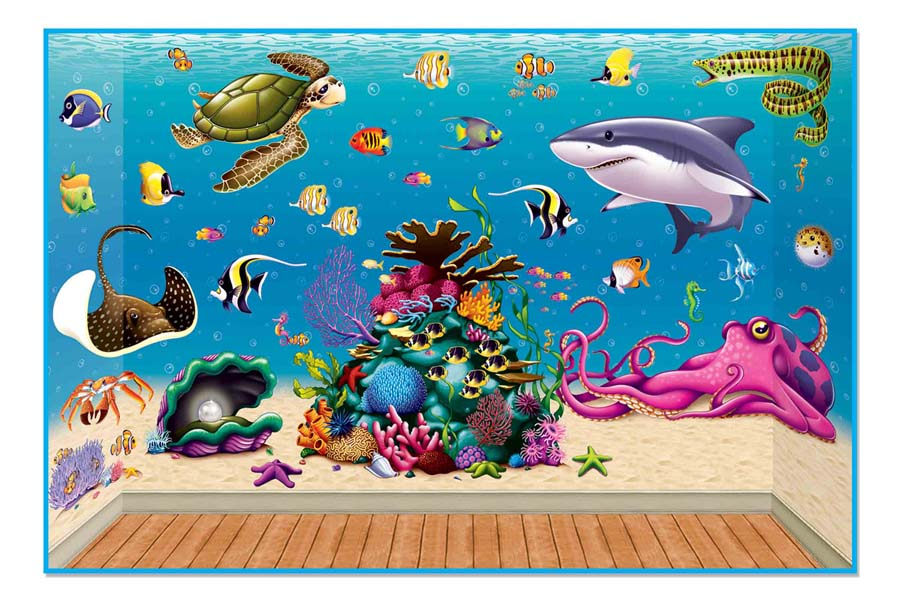 ceiling border ideas seashell - Vacation Bible School VBS Under the Sea Decorations