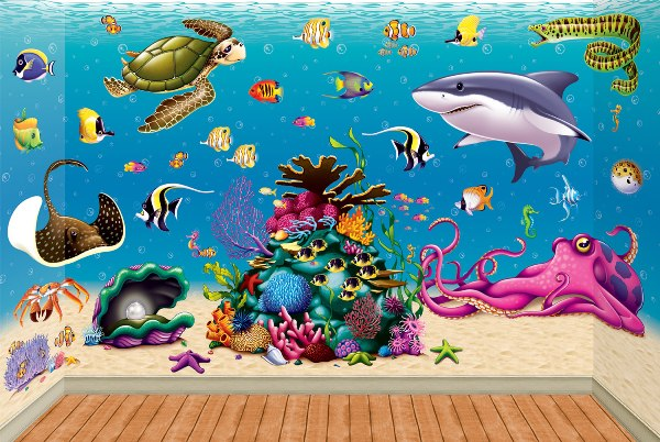 Under the sea backdrops, backgrounds, props