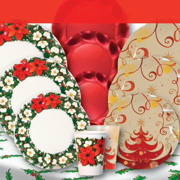 Christmas Party Tableware lets you set the perfect Holiday table
