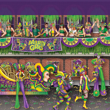 Mardi Gras Backgrounds, Props and beads for the perfect decor