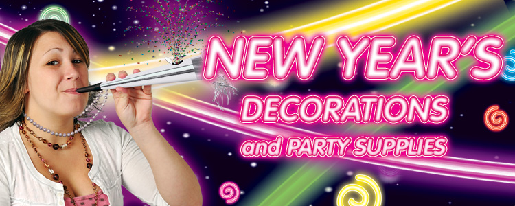 Bargain priced New Years Party Supplies and Decorations to match any party or decor