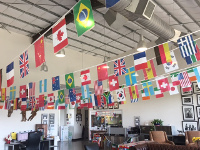Equest used decorations from PartyCheap to set the stage for their 2017 fundraiser 'Ride Around The World'