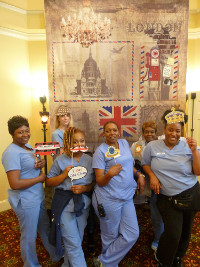 Falls Run staff not only helped take the residents to London, they even got to make some meomories!