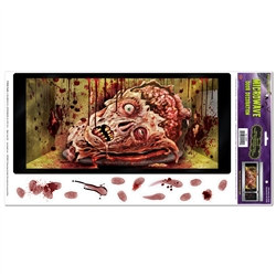 Halloween microwave door decoration peel n place