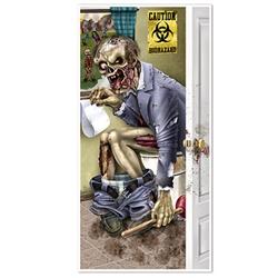 zombie restroom door cover