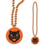 Beads w/ Cat Medallion