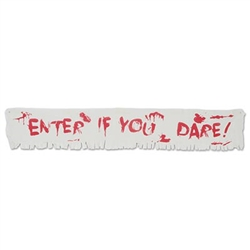 Enter If You Dare! Fabric Banner