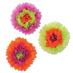 assorted tissue flowers