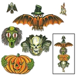 Vintage Halloween Totem Pole Cutouts - Beistle's classic Halloween designs are back.