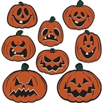 Vintage Halloween Pumpkin Cutouts - classic Beistle halloween designs