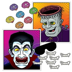 Halloween Party Games for Kids - Looking for a way to entertain your young (or young at heart) Halloween party guests? This Halloween Party Games for Kids is just the thing. A variation on the classic Pin the Tail on the Donkey game, this set features vampires & monsters!