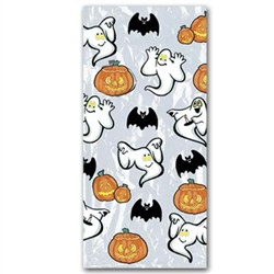 Pumpkin and Ghost Cello Bags (25/Pkg)