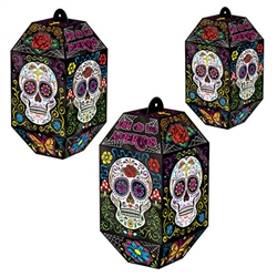 Foil Day Of The Dead Paper Lanterns