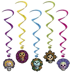 Day Of The Dead Whirls (5/pkg)